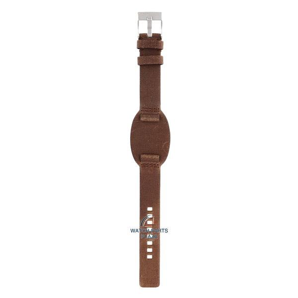 Diesel Watch Band Diesel DZ2034 brown genuine leather strap 18mm DZ-2034