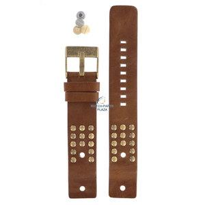 Diesel Diesel DZ-2124 horlogeband bruin leer 22 mm
