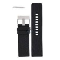 Bracelet de montre Diesel DZ-1055 en cuir noir 26 mm