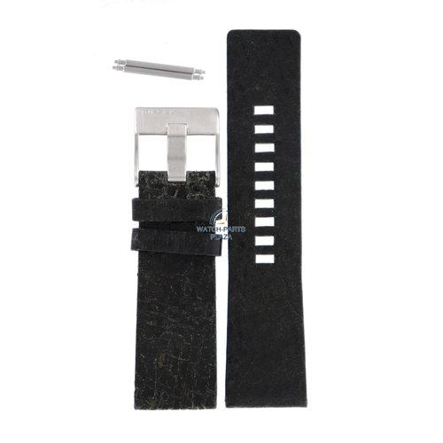 Diesel Diesel DZ-1269 correa de reloj negro cuero 26 mm
