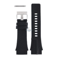 Bracelet de montre Diesel DZ-1397 en cuir noir 26 mm