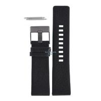 Bracelet de montre Diesel DZ-1187 en cuir noir 26 mm
