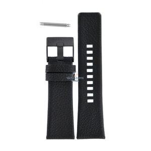 Diesel Bracelet de montre Diesel DZ-1657 en cuir noir 27 mm