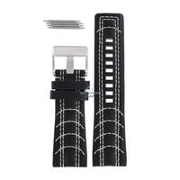 Diesel DZ-2061 horlogeband zwart leer 27 mm