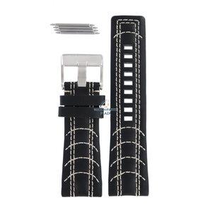 Diesel Diesel DZ-2061 Uhrenarmband aus schwarzem Leder 27 mm