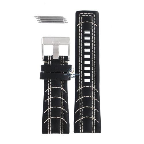 Diesel Diesel DZ-2061 horlogeband zwart leer 27 mm