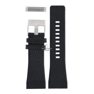 Diesel Bracelet de montre Diesel DZ-1115 en cuir noir 29 mm