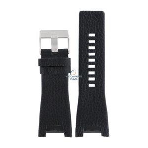 Diesel Bracelet de montre Diesel DZ-1215 en cuir noir 32 mm