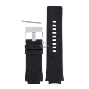 Diesel Bracelet de montre Diesel DZ-1109 en cuir noir 20 mm
