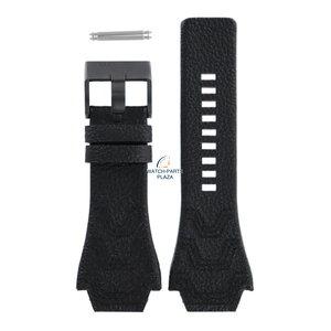 Diesel Bracelet de montre Diesel DZ-1265 en cuir noir 24 mm