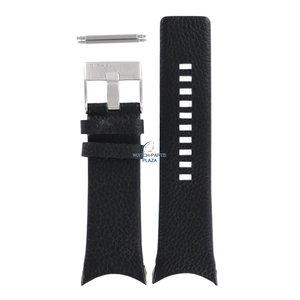 Diesel Bracelet de montre Diesel DZ-1152 en cuir noir 32 mm