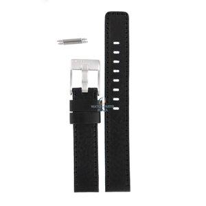 Diesel Diesel DZ-2027 horlogeband zwart leer 16 mm