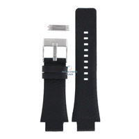 Bracelet de montre Diesel DZ-1174 en cuir noir 18 mm