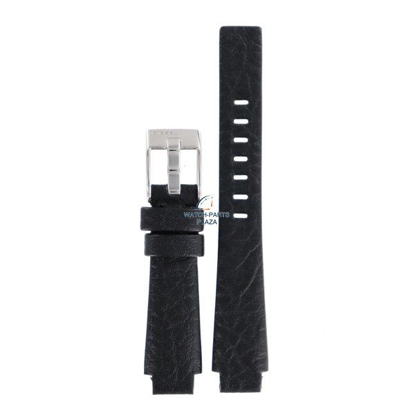 Diesel Horlogeband Diesel DZ1033 zwart lederen band 13mm horlogebandje