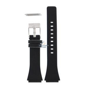 Diesel Diesel DZ-1501 correa de reloj negro cuero 20 mm