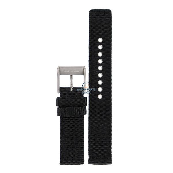 Diesel Horlogeband Diesel DZ2069 zwarte nylon band 21 mm origineel canvas