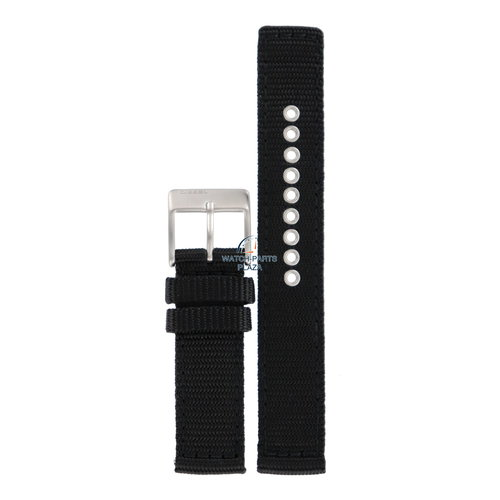Diesel Diesel DZ-2069 horlogeband zwart canvas 21 mm