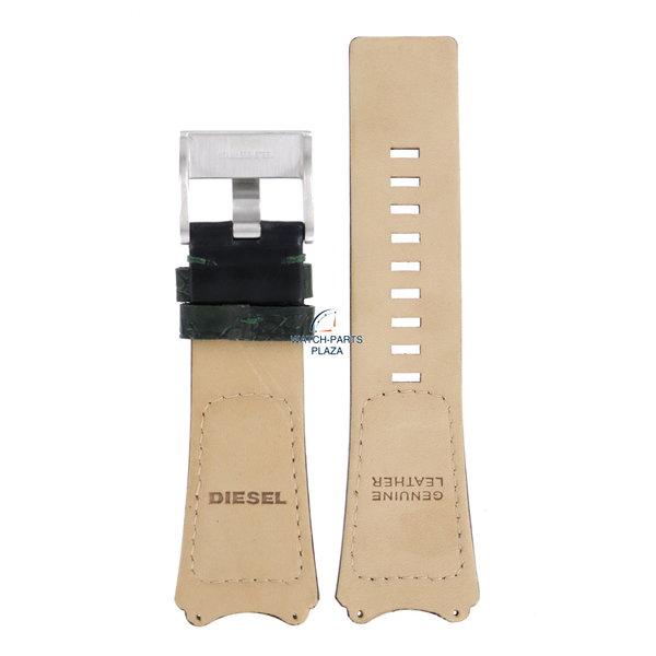 Diesel Horlogeband Diesel DZ1073 zwart lederen band 31 mm origineel