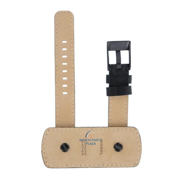Diesel Horlogeband Diesel DZ2079 zwart lederen band met gesp 16 mm origineel