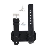 Diesel Diesel DZ-2055 horlogeband zwart leer 20 mm