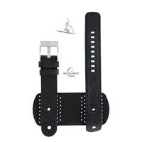 Diesel DZ-2055 horlogeband zwart leer 20 mm