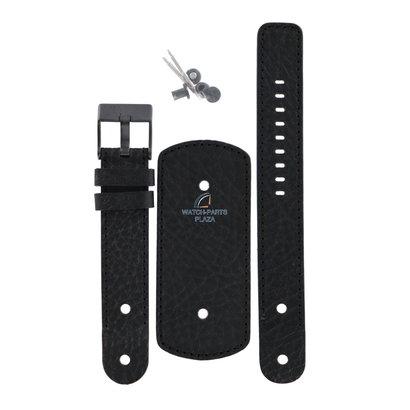 Diesel Horlogeband Diesel DZ2078 zwart originele manchet lederen band 20 mm