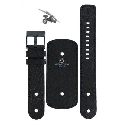 Diesel Horlogeband Diesel DZ2053 zwart lederen band 22mm origineel