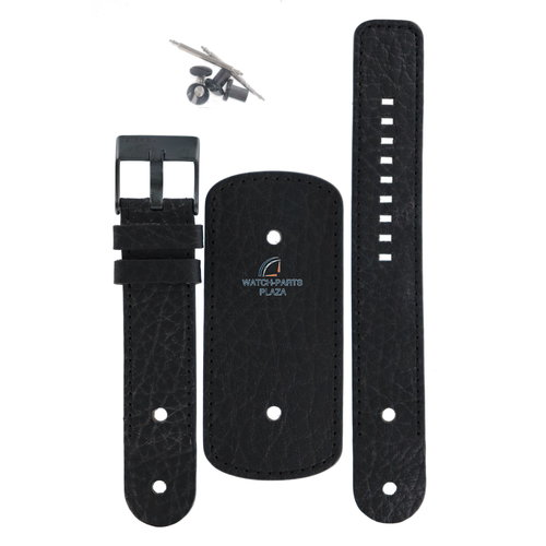 Diesel Diesel DZ-2053 horlogeband zwart leer 22 mm