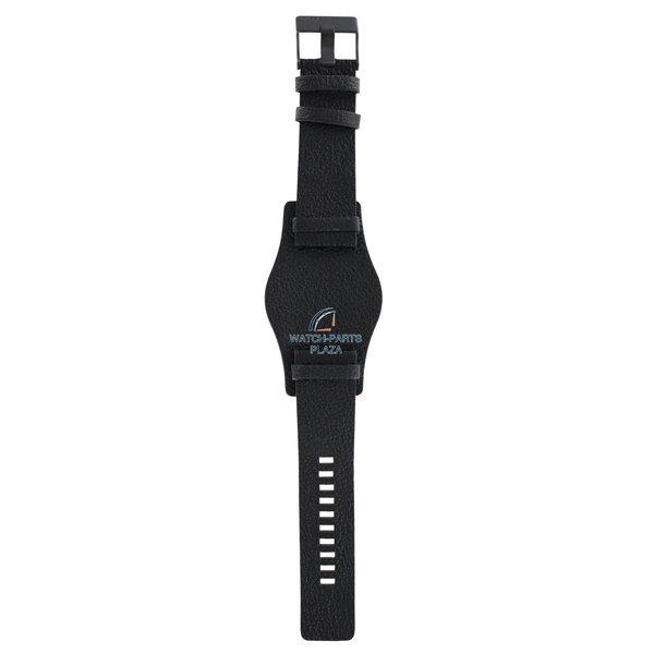 Diesel Horlogeband Diesel DZ1310 zwarte ronde manchet lederen band 26mm origineel