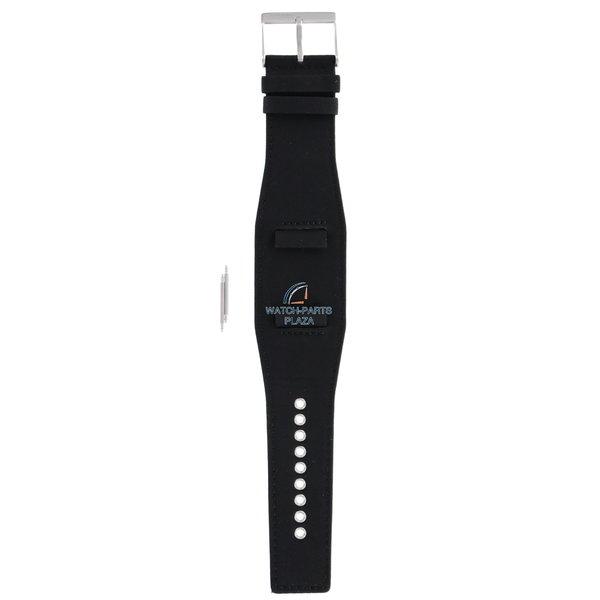 Diesel Horlogeband Diesel DZ2048 zwarte originele lederen band 22mm DZ-2048