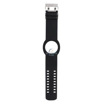 Diesel Horlogeband Diesel DZ3002 zwarte originele lederen band 30mm DZ3003