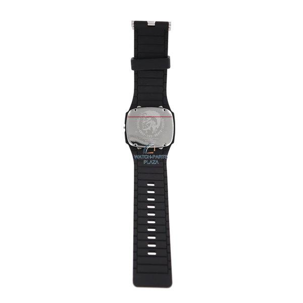 Diesel Horlogeband & -kast Diesel Trojan DZ1384 zwarte siliconen band 28 mm origineel