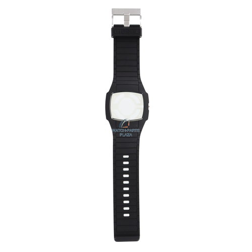 Diesel Diesel DZ-1384 horlogeband / kast zwart rubber 28 mm
