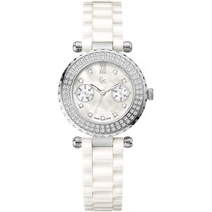 Guess Collection Reloj Guess Collection A28101L1 de cerámica blanca.