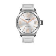 TW-Steel TW-Steel TWMC44 horloge met wit leren band