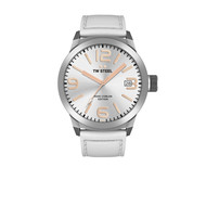 TW-Steel TW-Steel TWMC44 watch with white leather strap