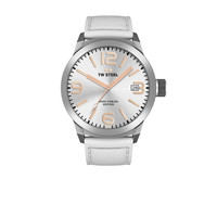 TW-Steel TWMC44 horloge met wit leren band