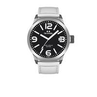 TW Steel TWMC45 horloge met wit leren band
