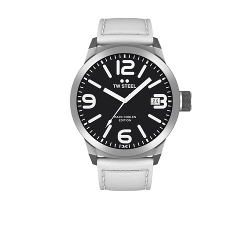 TW-Steel TW Steel TWMC45 watch with white leather strap