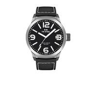 TW-Steel TW Steel TWMC54 horloge met zwart leren band