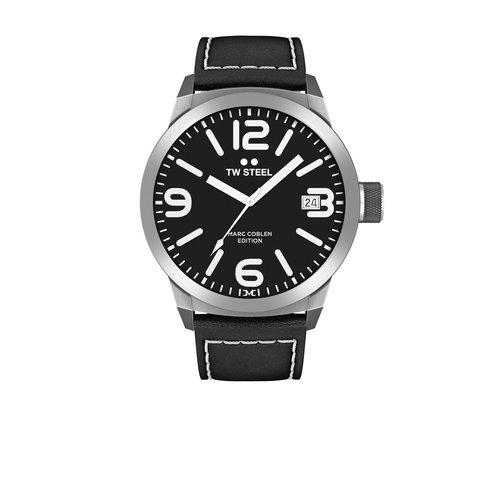 TW-Steel TW Steel TWMC54 Uhr mit schwarzem Lederarmband