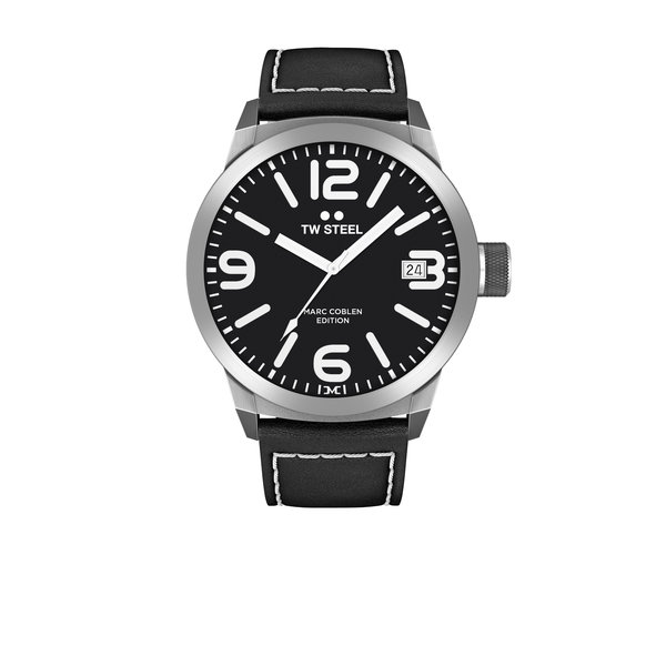 TW-Steel TW-Steel Analog watch Marc Coblen TWMC54 black leather strap 50mm black dial