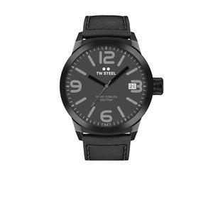 TW-Steel Reloj TW Steel TWMC52 negro para hombre con correa de piel.