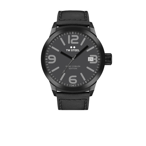 TW-Steel TW Steel TWMC52 black men's watch with leather strap