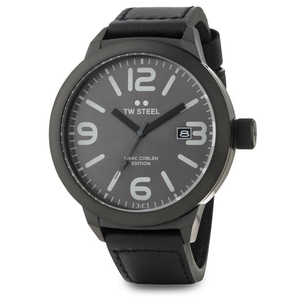 TW-Steel Men's watch TW-Steel Marc Coblen TWMC53 black & leather strap - dark gray dial