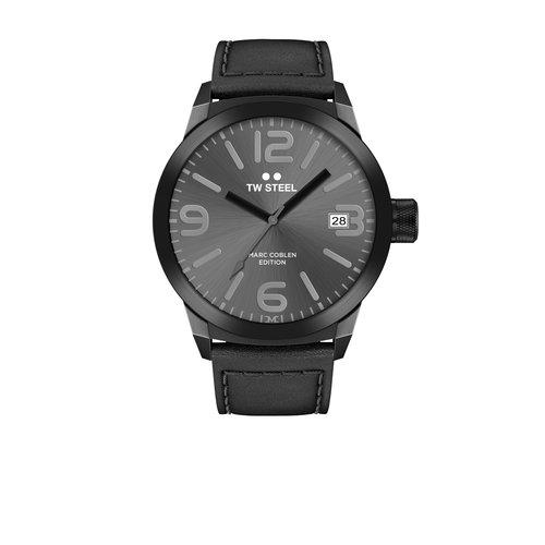 TW-Steel TW Steel TWMC53 zwarte herenhorloge met leren band
