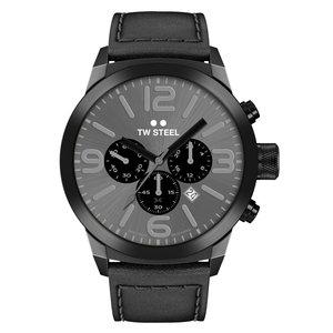 TW-Steel TW Steel TWMC18 reloj cronógrafo negro con correa de piel negra