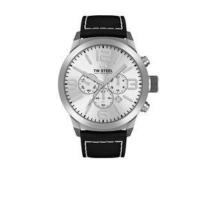 TW-Steel TW Steel TWMC60 Uhr mit schwarzem Lederarmband