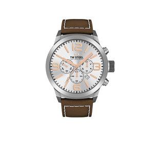 TW-Steel Reloj TW-Steel TWMC11 con correa de piel marrón.