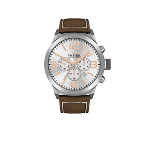 TW-Steel TW-Steel TWMC11 watch with brown leather strap